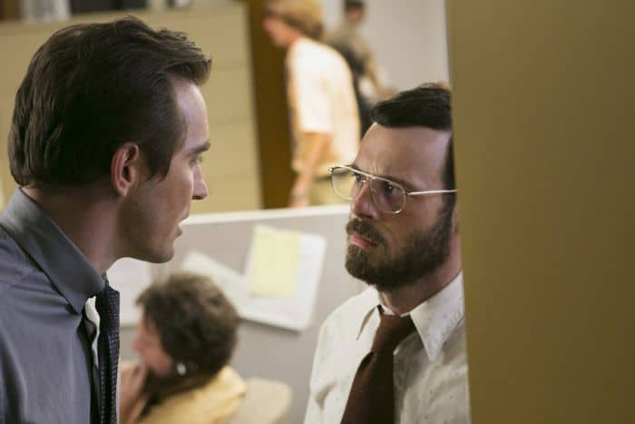 Halt And Catch Fire Lee Pace as Joe MacMillan and Scoot McNairy as Gordon Clark