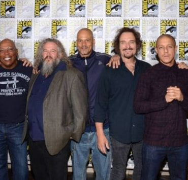 Tommy Flanagan, Paris Barclay (Executive Producer), Mark Boone, Junior, David Labrava, Kim Coates, Theo Rossi, Niko Nicotera Sons Of Anarchy San Diego Comic Con 2014