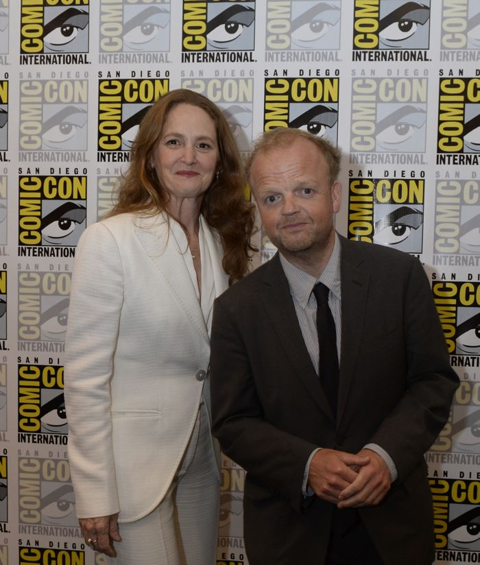 WAYWARD PINES Cast members Melissa Leo and Toby Jones behind the scenes on Friday, July 15 at the FOX FANFARE AT SAN DIEGO COMIC-CON