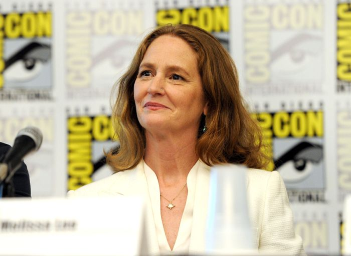 Cast member Melissa Leo during the WAYWARD PINES panel on Friday, July 25 at the FOX FANFARE AT SAN DIEGO COMIC-CON
