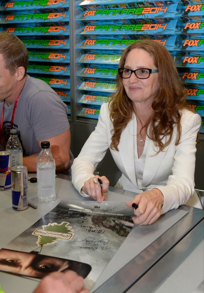 WAYWARD PINES cast member Melissa Leo signs autographs for fans during the WAYWARD PINES booth signing on Friday, July 25 at the FOX FANFARE AT SAN DIEGO COMIC-CON