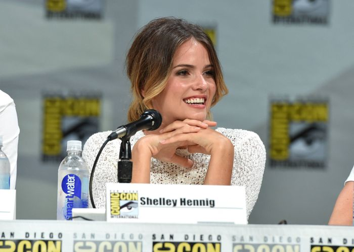 """Shelley Hennig attends the """"Teen Wolf"""" panel at Comic-Con International on Thursday, July 24, 2014, in San Diego"""