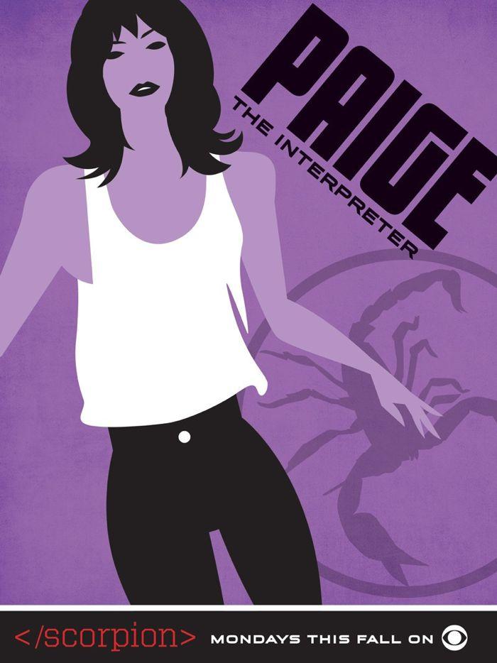 Scorpion Comic Con Poster Paige