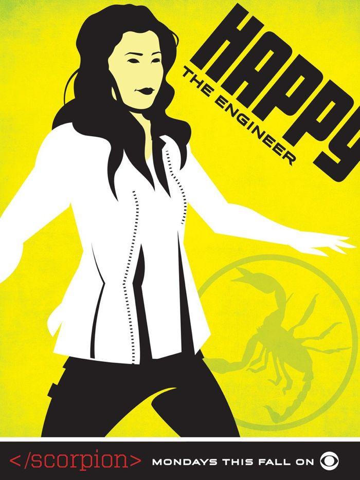 Scorpion Comic Con Poster Happy