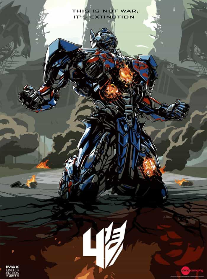 Transformers Age Of Extinction Poster IMAX Limited Edition 16