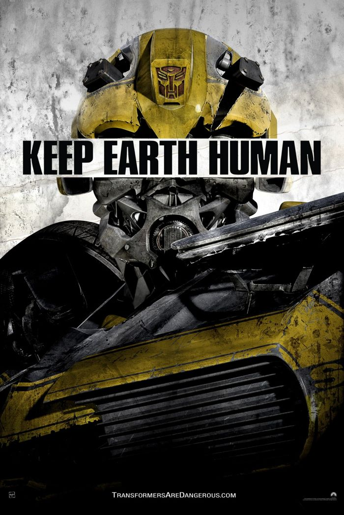 Transformers Age Of Extinction Poster Keep Earth Human