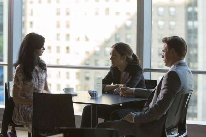 Krysten Ritter as Rowan, Megan Boone as Elizabeth Keen, Diego Klattenhoff as Donald Ressler The Blacklist - Season 2