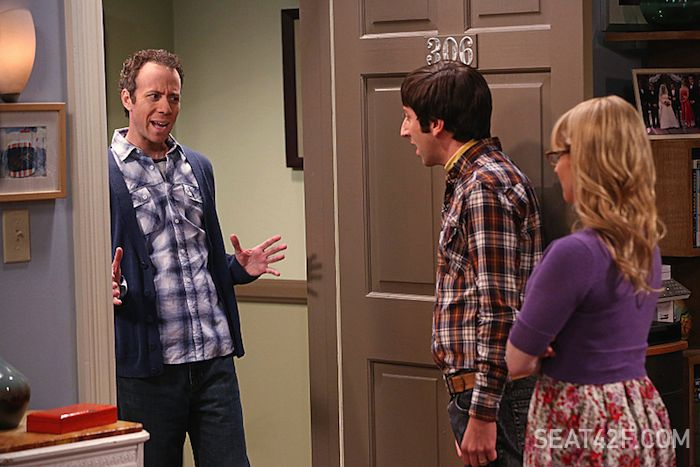Kevin Sussman, Simon Helberg and Melissa Rauch The Big Bang Theory The Locomotion Interruption