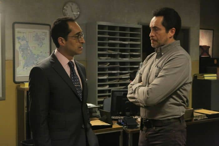 The Bridge 2x09 Bruno Bichir as Sebastian Cerisola, Demian Bichir as Marco Ruiz