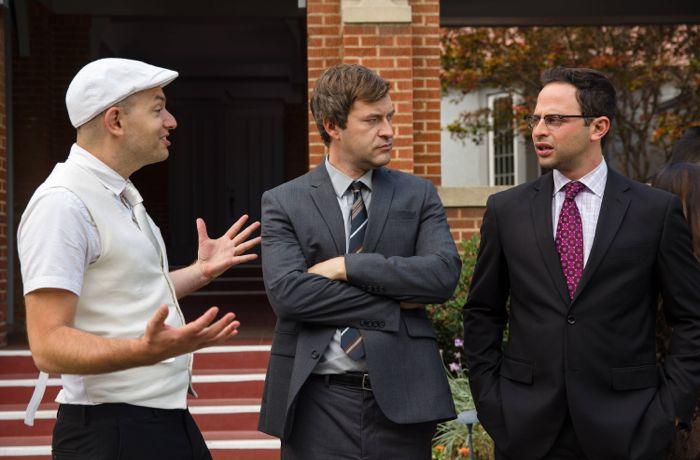 The League Paul Scheer as Andre, Mark Duplass as Pete, Nick Kroll as Ruxin