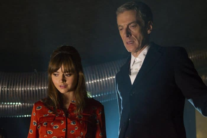 Doctor Who, Season 8, Episode 2, Clara (Jenna Coleman) and the Doctor (Peter Capaldi)