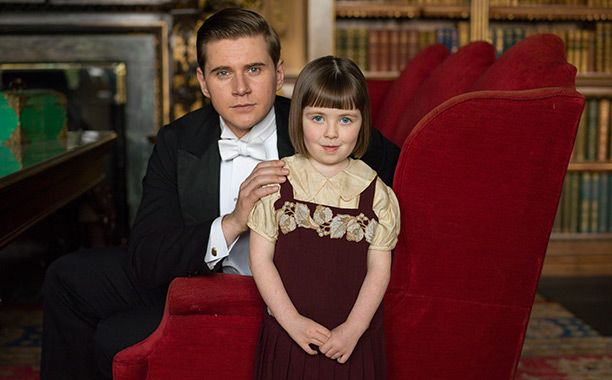 Downton Abbey Allen Leech as Tom Branson and Fifi Hart as Sybbie Branson