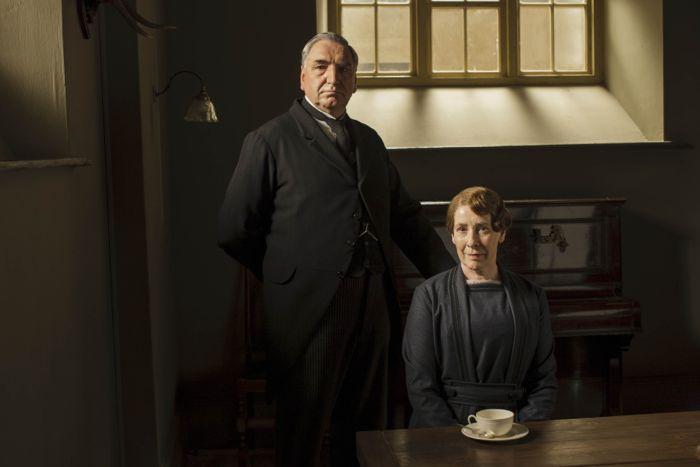 Downton Abbey Jim Carter as Mr. Carson and Phyllis Logan as Mrs Hughes