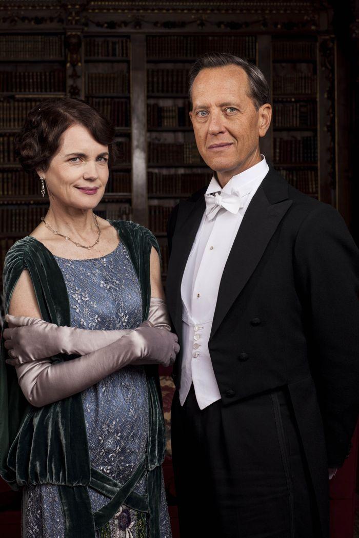 Downton Abbey Elizabeth McGovern as Cora, Countess of Grantham and Richard E. Grant as Simon Bricker