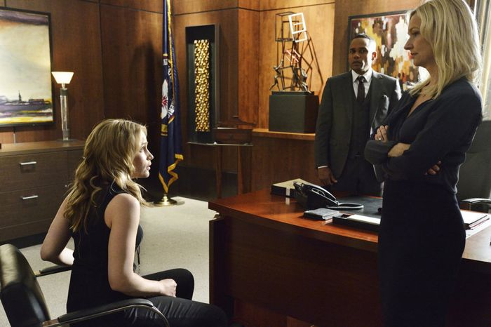 Covert Affairs Season 5 Piper Perabo as Annie Walker, Hill Harper as Calder Michaels, Kari Matchett as Joan Campbell