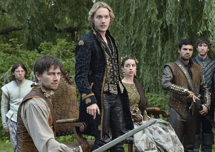 Torrance Coombs as Bash, Toby Regbo as King Francis II, Adelaide Kane as Mary, Queen of Scotland and France and Sean Teale as Conde Reign Coronation