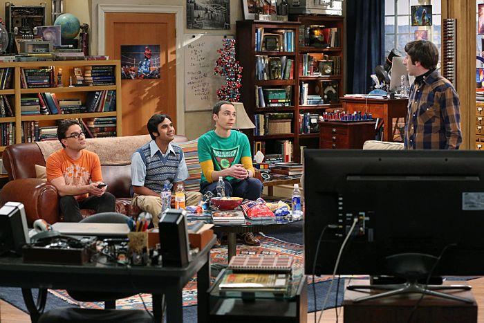 Johnny Galecki, Kunal Nayyar, Jim Parsons and Simon Helberg The Big Bang Theory The First Pitch Insufficiency