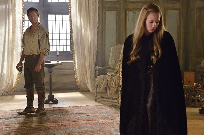 Jonathan Keltz as Leith and Celina Sinden as Greer Reign Drawn & Quartered