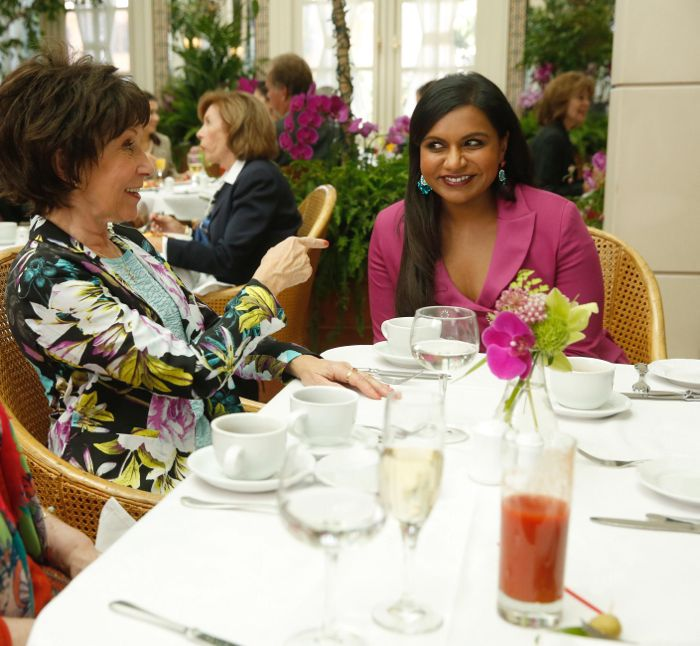 THE MINDY PROJECT: Mindy (Mindy Kaling, R) tries to win over Danny's mother, Annette (guest star Rhea Pearlman, L)