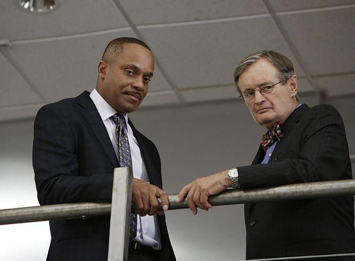 Rocky Carroll and David McCallum NCIS Kill the Messenger