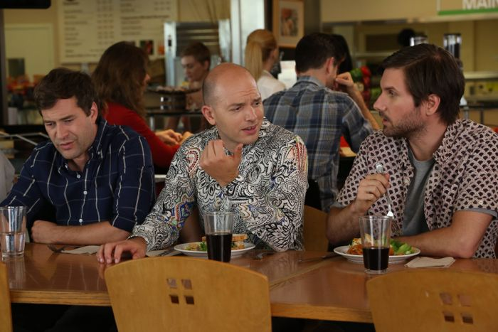 Mark Duplass as Pete, Paul Scheer as Andre, Jon Lajoie as Taco The League