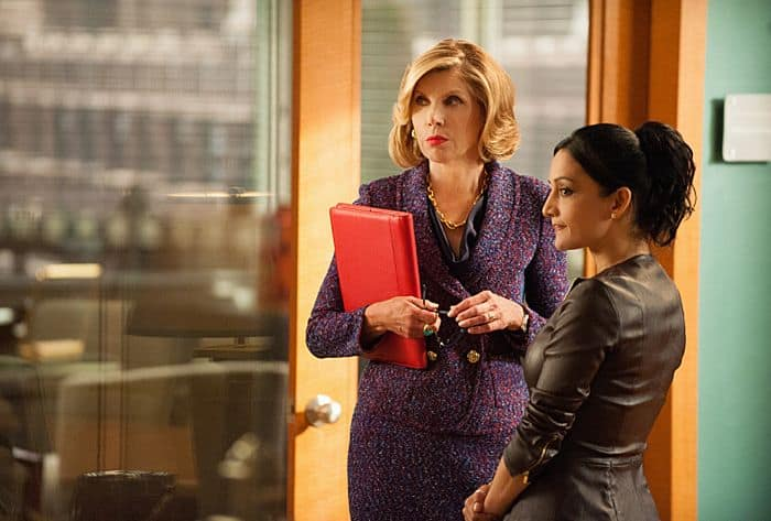 Christine Baranski as Diane Lockhart and Archie Panjabi as Kalinda Sharma The Good Wife
