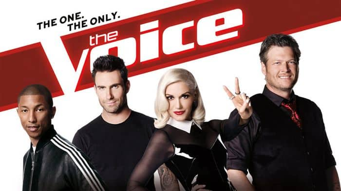 The Voice Season 7 Poster Blake Shelton, Adam Levine, Gwen Stefani, Pharrell Williams