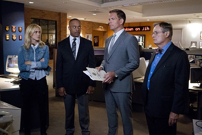 Emily Wickersham, Rocky Carroll, Michael Weatherly and David McCallum NCIS Season 12