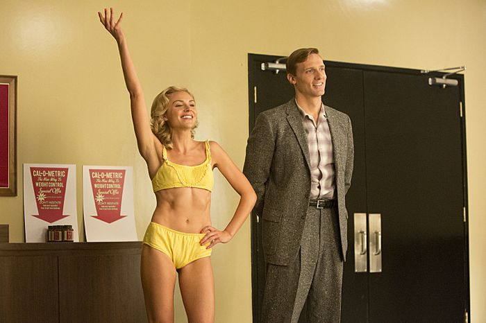 Karissa Lee Staples as Cindy and Teddy Sears as Dr. Austin Langham in Masters of Sex (season 2, episode 10)