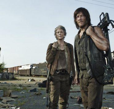 Melissa McBride as Carol Peletier and Norman Reedus as Daryl Dixon The Walking Dead Season 5 Gallery