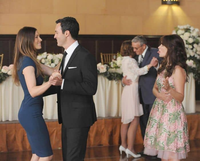 New Girl Zooey Deschanel, Jessica Biel, Reid Scott