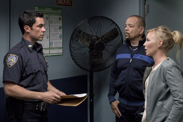 Danny Pino as Detective Nick Amaro, Ice-T as Detective Odafin 'Fin' Tutuola, Kelli Giddish as Detective Amanda Rollins Law & Order: Special Victims  Unit - Season 16