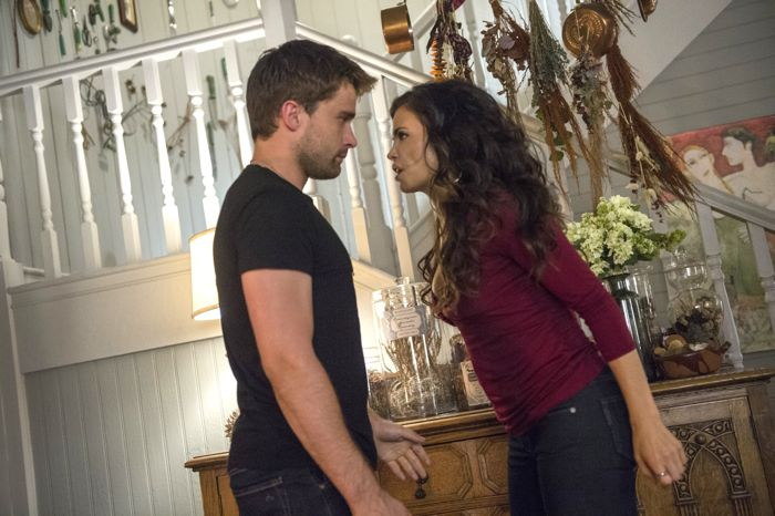 (L-R) Christian Cooke and Jenna Dewan Tatum star in an all-new episode of Witches of East End, airing Sunday, September 14, at 9pm ET/PT on Lifetime.