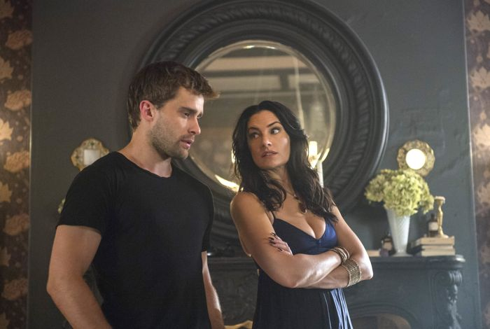 (L-R) Christian Cooke and Madchen Amick star in an all-new episode of Witches of East End, airing Sunday, September 14, at 9pm ET/PT on Lifetime.