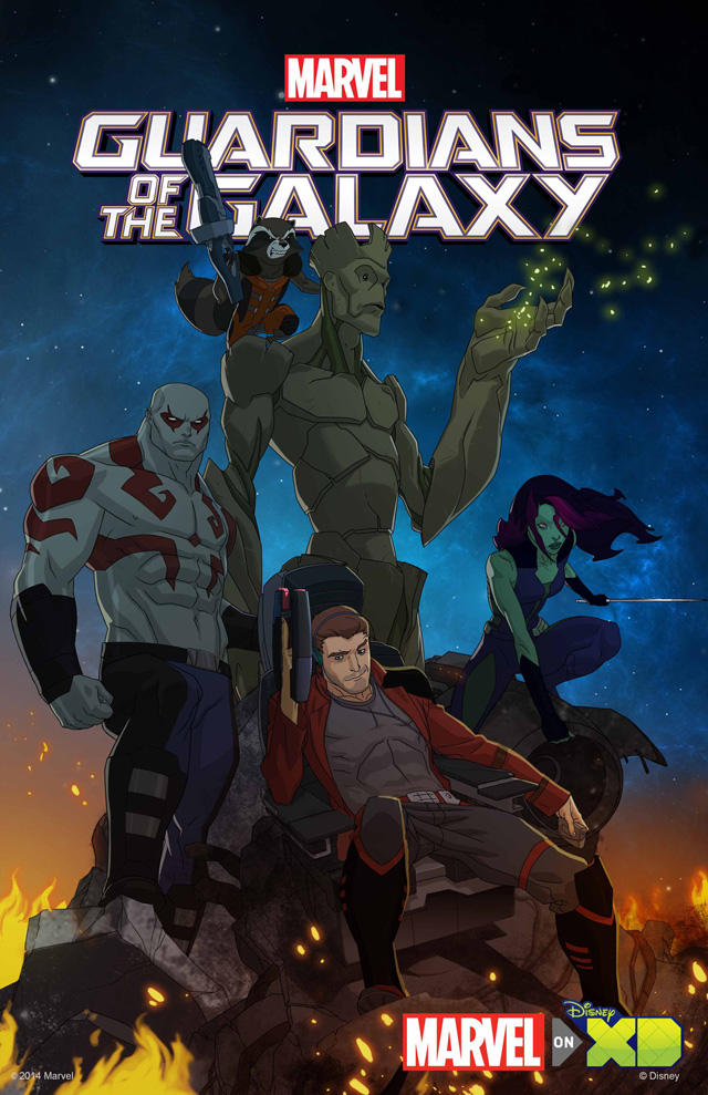 Guardians of The Galaxy Animated Series Disney XD Poster