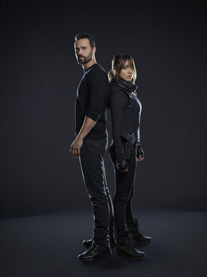 "ABC's ""Marvel's Agents of S.H.I.E.L.D."" stars Brett Dalton as Grant Ward and Chloe Bennet as Skye"