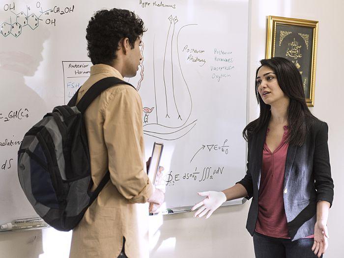 Suraj Sharma as Aayan and Nazanin Boniadi as Fara in Homeland (Season 4, Episode 3)