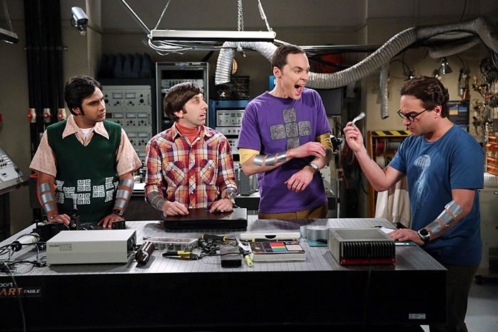 Kunal Nayyar, Simon Helberg, Jim Parsons and Johnny Galecki The Focus Attenuation