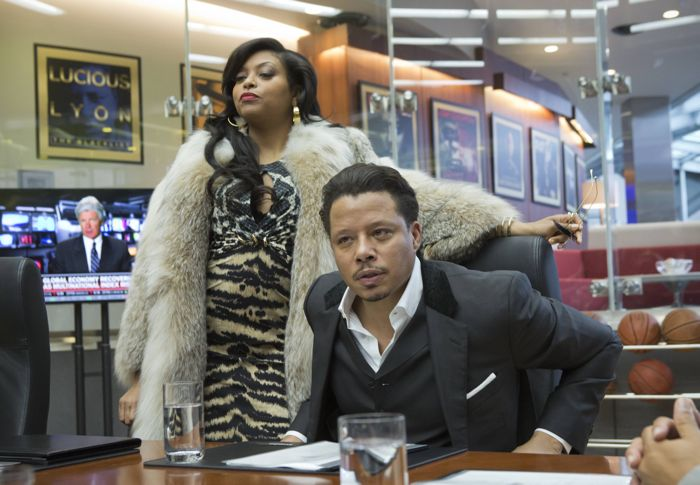 EMPIRE: Cookie Lyon (Taraji P. Henson, L) visits Lucious Lyon (Terrence Howard, R)