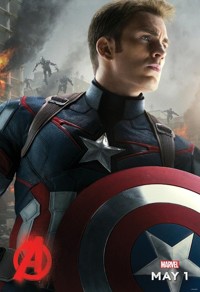 Avengers Age Of Ultron Poster Chris Evans as Captain America