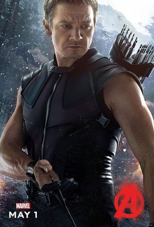 Avengers Age Of Ultron Poster Jeremy Renner as Hawkeye