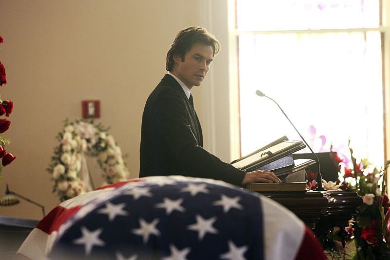 "The Vampire Diaries ""Let Her Go"" Ian Somerhalder as Damon"
