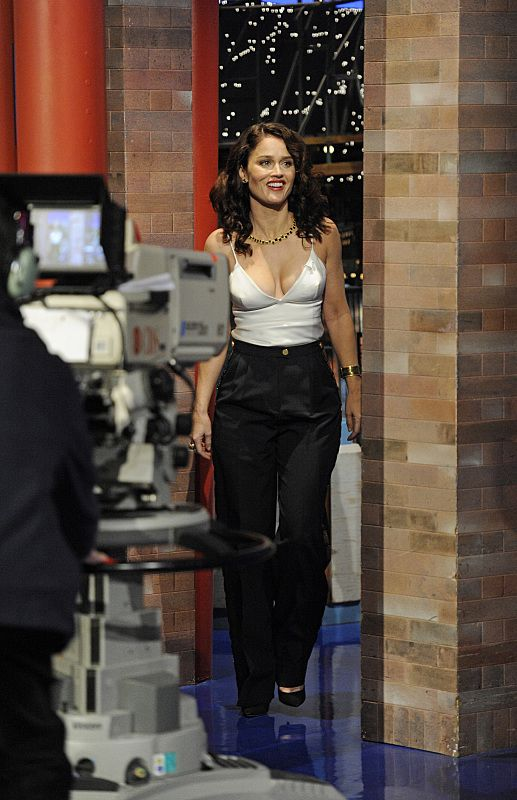 Robin Tunney Late Show with David Letterman