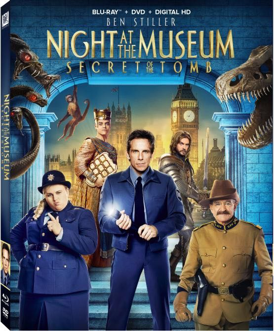 NIGHT AT THE MUSEUM SECRET OF THE TOMB Bluray Sleeve