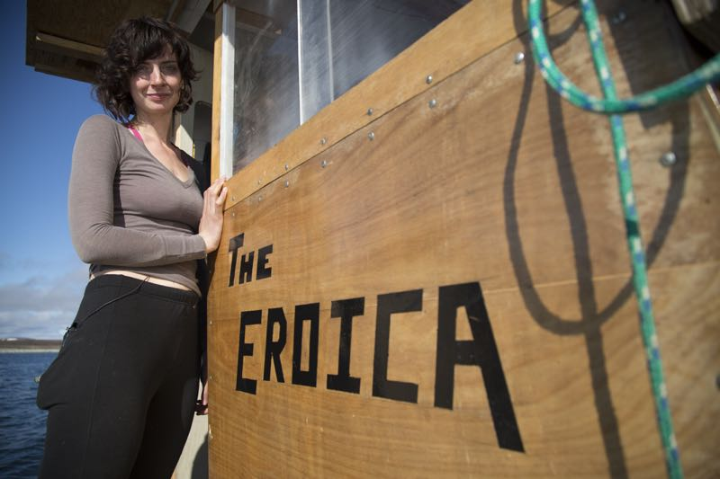 Emily Riedel posing in front of The Eroica.