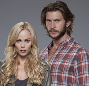 BITTEN -- Season:2 -- Pictured: (l-r) Laura Vandervoort as Elena Michaels, Greyston Holt as Clay Danvers -- (Photo by: Steve Wilkie/She-Wolf Season 2 Productions Inc.)