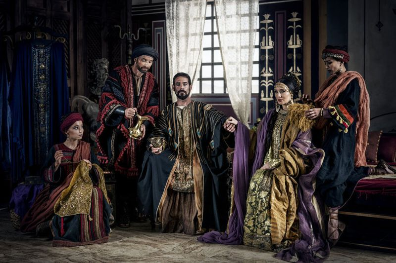 A.D.THE BIBLE CONTINUES Marama Corlett as Tabitha, Jim Sturgeon as Chuza, James Callis as Antipas, Claire Cooper as Herodias, Farzana Dua Elahe as Joanna
