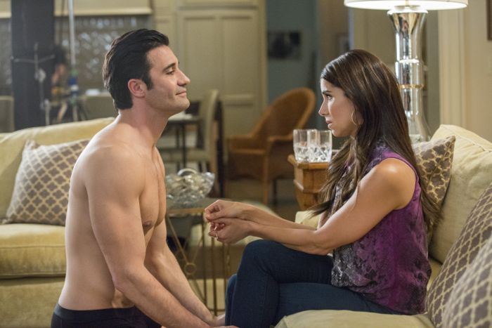 (L to R) Gilles Marini and Roselyn Sanchez star in season three of Lifetime's hit series Devious Maids, premiering Monday, June 1st, at 9pm ET/PT on Lifetime.