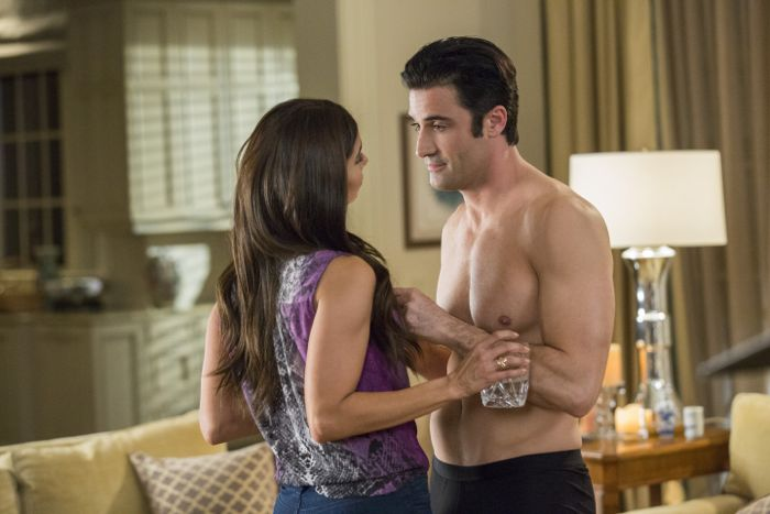 (L to R) Roselyn Sanchez and Gilles Marini star in season three of Lifetime's hit series Devious Maids, premiering Monday, June 1st, at 9pm ET/PT on Lifetime.