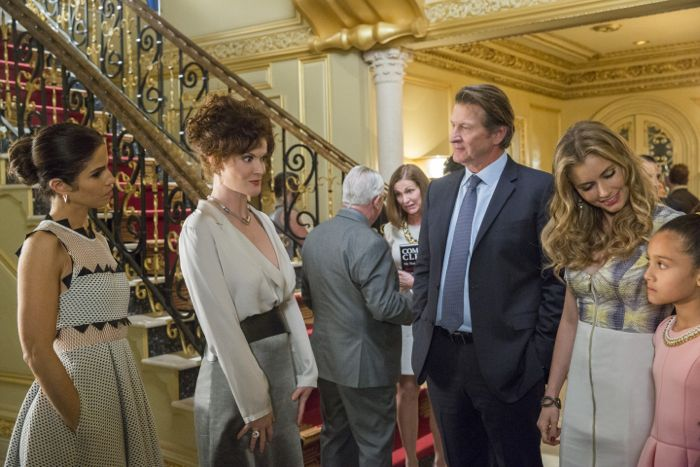 (L to R) Ana Ortiz, Rebecca Wisocky, Brett Cullen and Brianna Brown star in season three of Lifetime's hit series Devious Maids, premiering Monday, June 1st, at 9pm ET/PT on Lifetime.